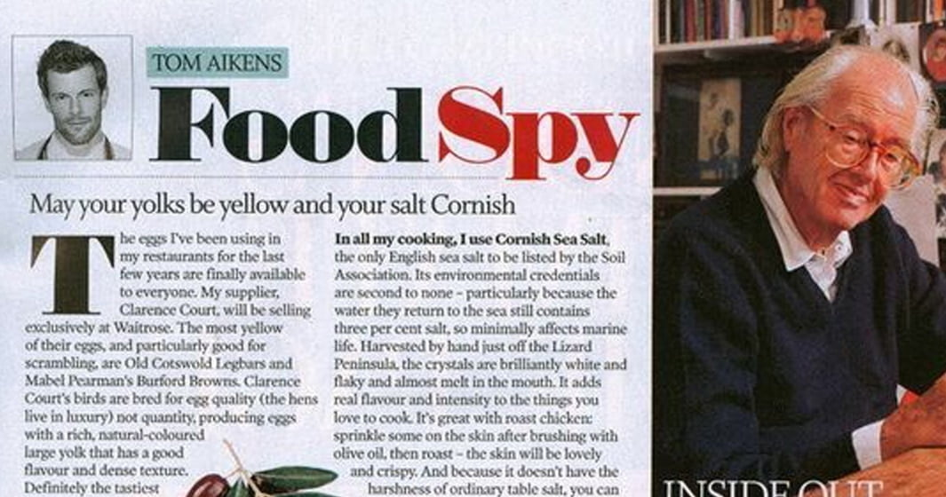 Evening Standard Column – The Food Spy