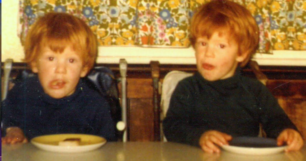Tom and his twin brother 1968