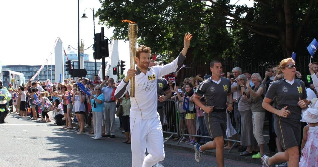 Running with the Olympic Torch